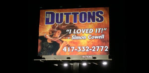 The Duttons Branson MO billboard